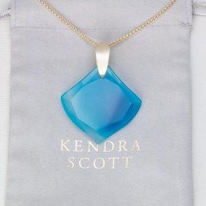 """Kendra Scott """"Aislinn"""" Blue Agate Long Necklace"""